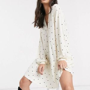 ASOS YAS long sleeve tiered mini smock dress